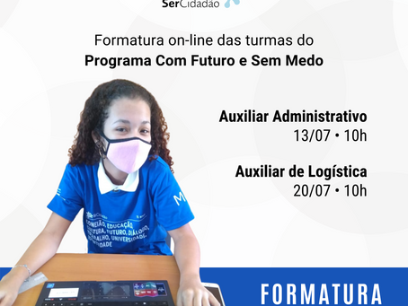Formatura das turmas Auxiliar Administrativo e Auxiliar de Logística 2021.1