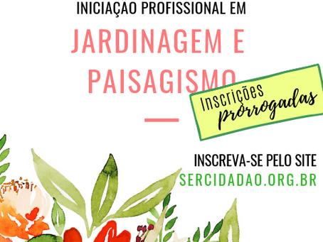 Inscrições prorrogadas para o curso de Iniciação Profissional em Jardinagem e Paisagismo