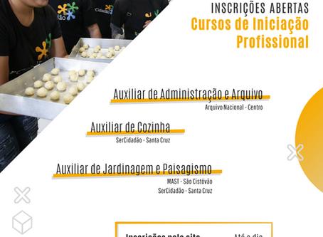 Inscrições Abertas para os cursos de iniciação profissional na SerCidadão