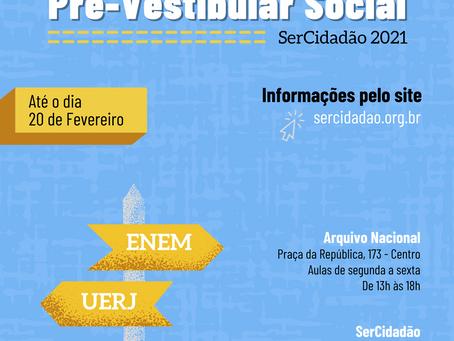 Vamos estudar? Inscrições abertas para o Pré-Vestibular Social SerCidadão