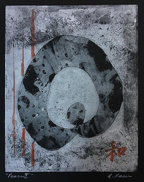 """26.5"""" x 16"""" original artwork """"Peace I"""""""