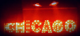 "Chicago Musical Theatre animated light sign hire from The Green ""A"" Team"