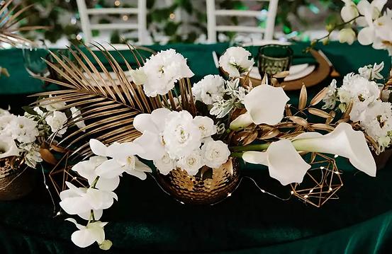 Оформление стола цветами на свадьбу в Москве фото Vidi Wedding