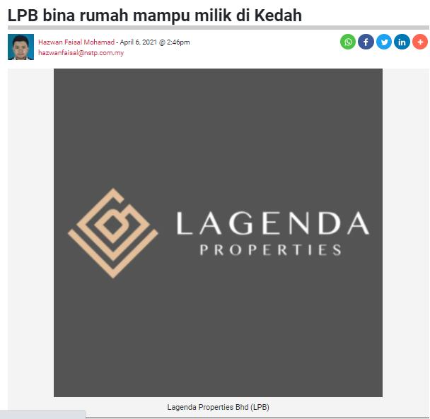 LPB bina rumah mampu milik di Kedah   BERITA HARIAN   6 APRIL 2021