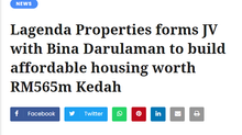 Lagenda Properties forms JV with Bina Darulaman to build affordable housing worth RM565m Kedah