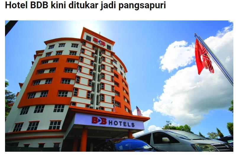 Hotel BDB kini ditukar jadi pangsapuri | DAGANG NEWS | 9 FEBRUARI 2021