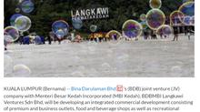 BDB-MBI Kedah JV to develop Langkawi Premium Outlets | THE STAR | 21/9/2021