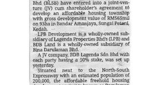 More affordable homes in Kedah | THE STAR | 7 APRIL 2021