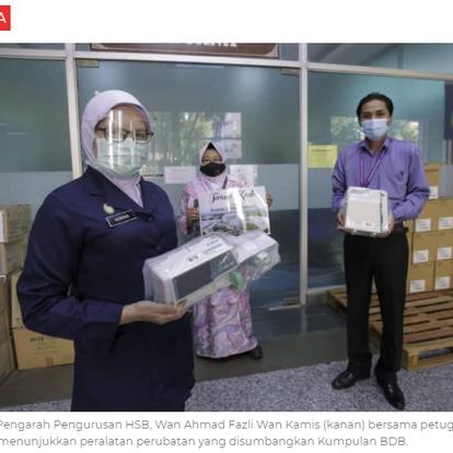 Kumpulan BDB sumbang peralatan perubatan RM81,000 | KOSMO! | 2 JUN 2021