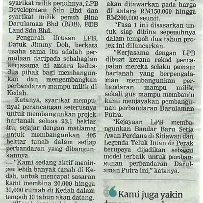 LPB bina rumah mampu milik di Kedah | BERITA HARIAN | 7 APRIL 2021