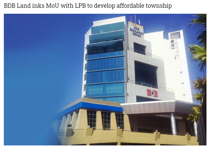 BDB Land inks MoU with LPB to develop affordable township | THE MALAYSIAN RESERVE | 3RD NOVEMBER 202