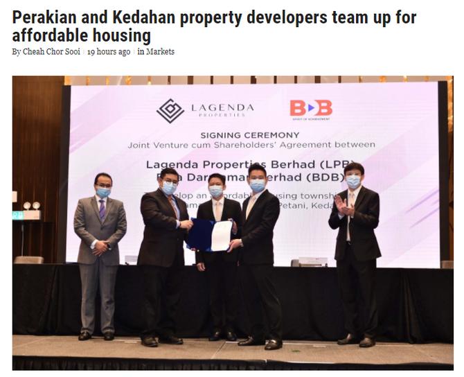 Perakian and Kedahan property developers team up for affordable housing