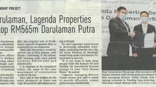Bina Darulaman,Lagenda Properties to develop RM565m Darulaman Putra| NEW STRAITS TIMES| 7 APRIL 2021
