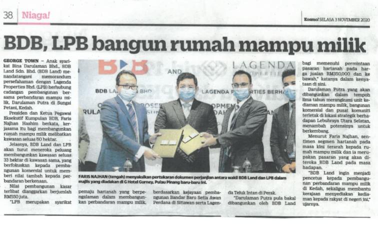 BDB,LPB BANGUN RUMAH MAMPU MILIK | Kosmo! | 3 November 2020