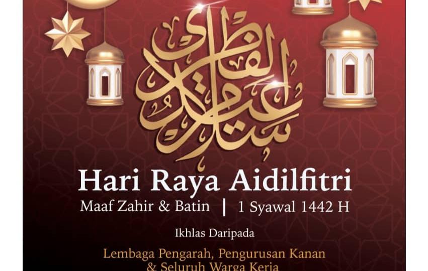 Selamat Hari Raya Aidilfitri Maaf Zahir & Batin 1442H | SINAR HARIAN | 12 MEI 2021