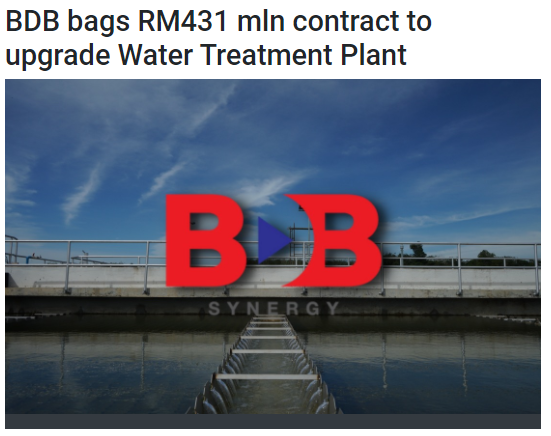 BDB bags RM431mil contract to upgrade Water Treatment Plant | BERNAMA | 11 MAY 2021