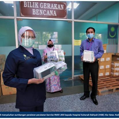 BDB sumbang peralatan hospital | HARIAN METRO | 2 JUN 2021