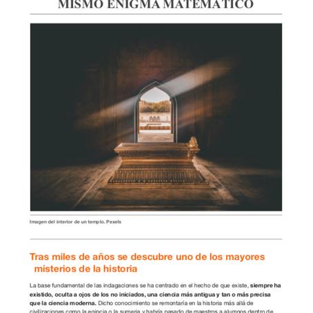 """Dossier de prensa de mi primer libro """"La Revelación de la Unidad"""""""