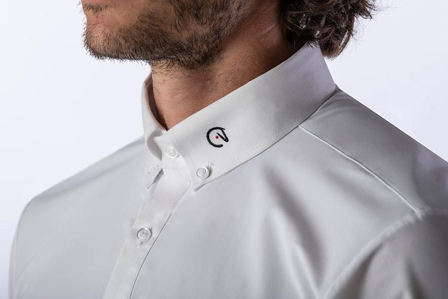 Mens White show Shirt mc