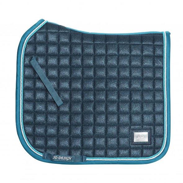 SD® HOLLYWOOD GLAMOROUS SADDLEPAD. BLUE LAGOON GLITTER