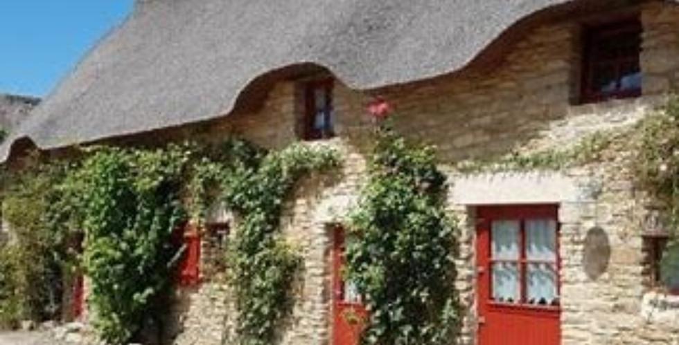 Maison toit de chaume, la grande Brière.