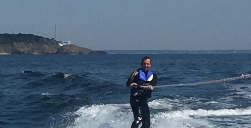 wake board, baie de la Baule