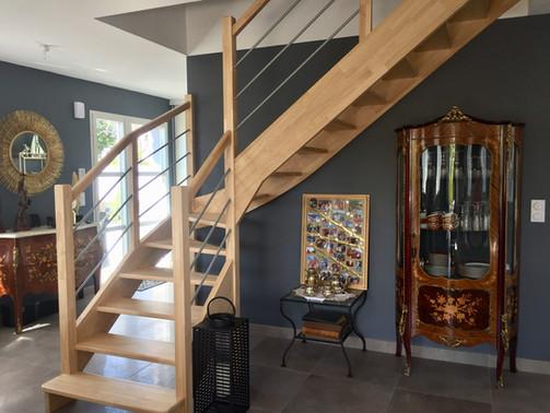 escalier villa Elias la Baule