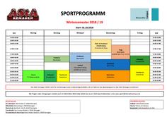 Sportprogramm WS18/19