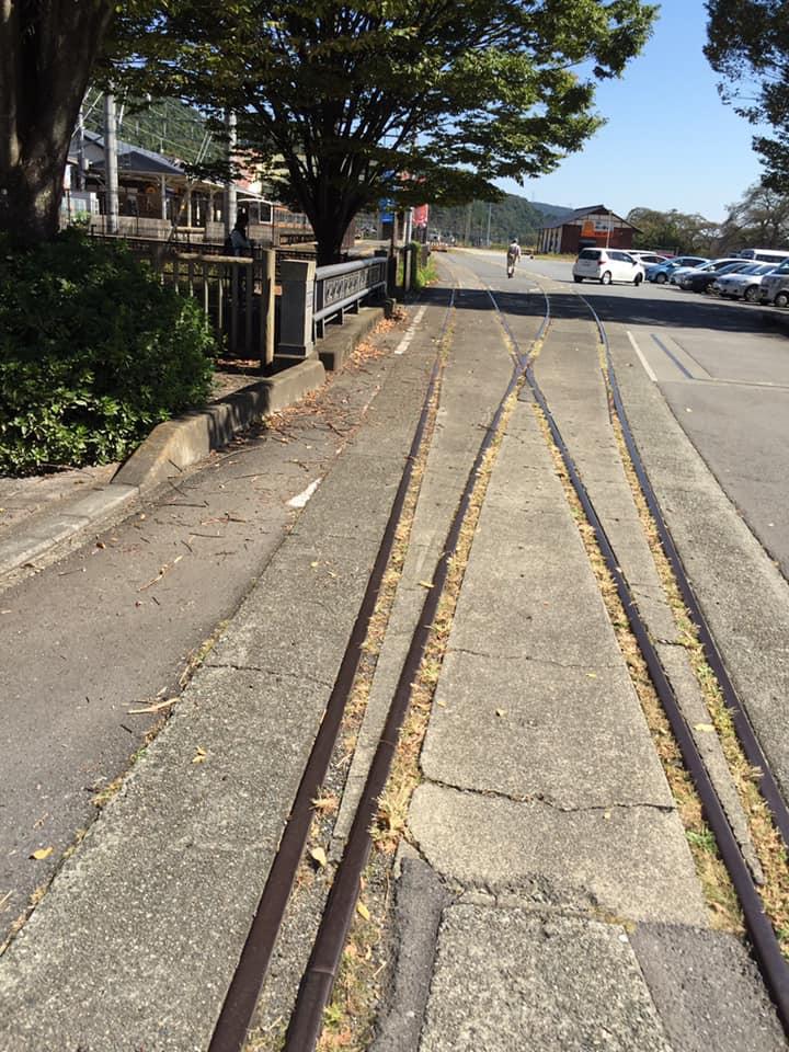 横川駅 線路跡