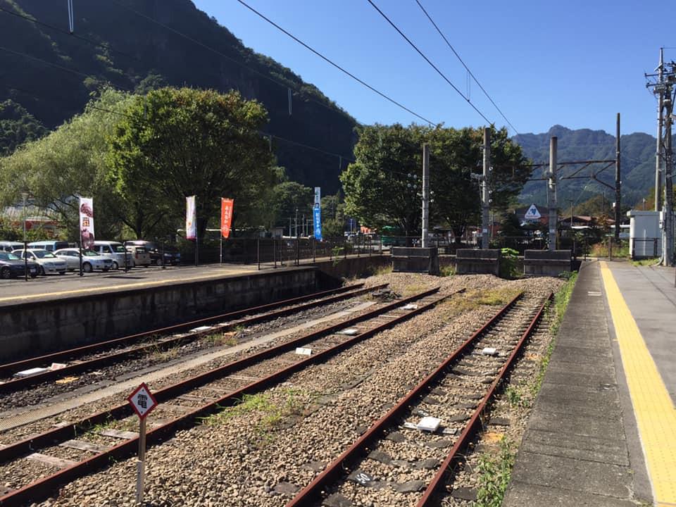 横川駅の車止め。 20年前まではここから先がありました!
