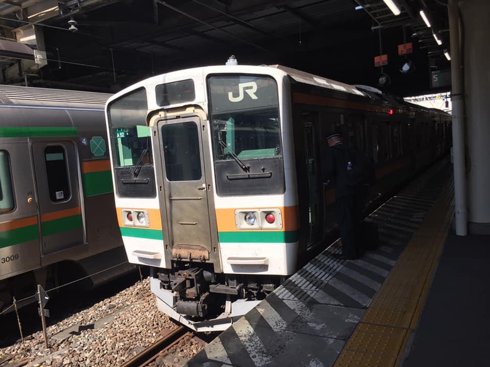 高崎までくると、まだまだ211系に乗れます!
