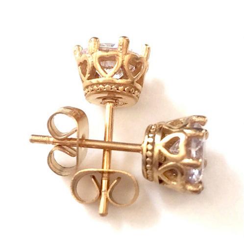 Diamond Crown Earrings