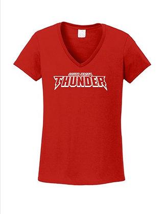 SJTS Ladies V-Neck Tee Shirt '21
