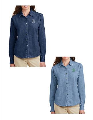 STBE Ladies Denim Button Front Shirt '21