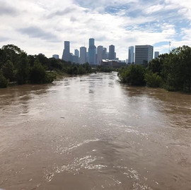 Buffalo Bayou during Harvey
