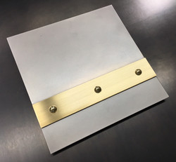 Hand Honed Stainless Brushed Brass Banding