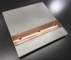 Hand Honed Stainless with Mirror Copper Banding