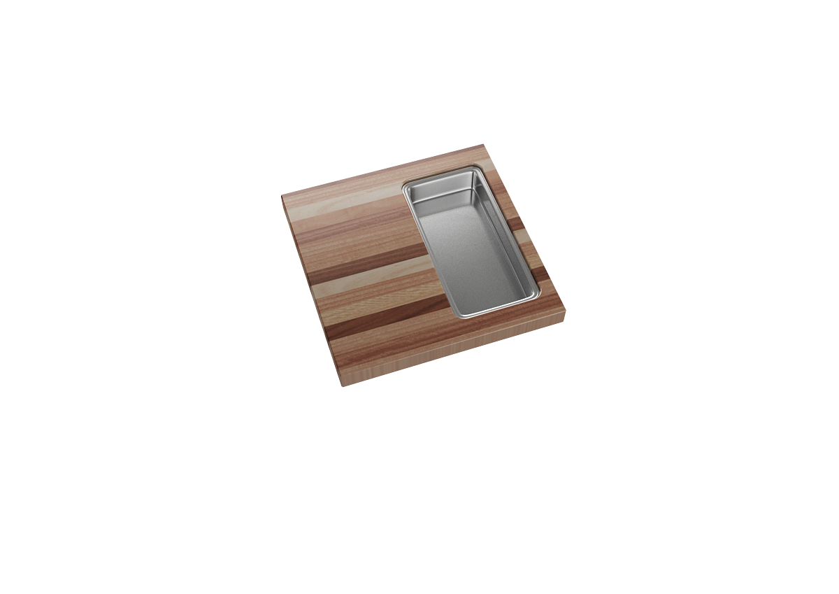 Berlin cutting board with single pan