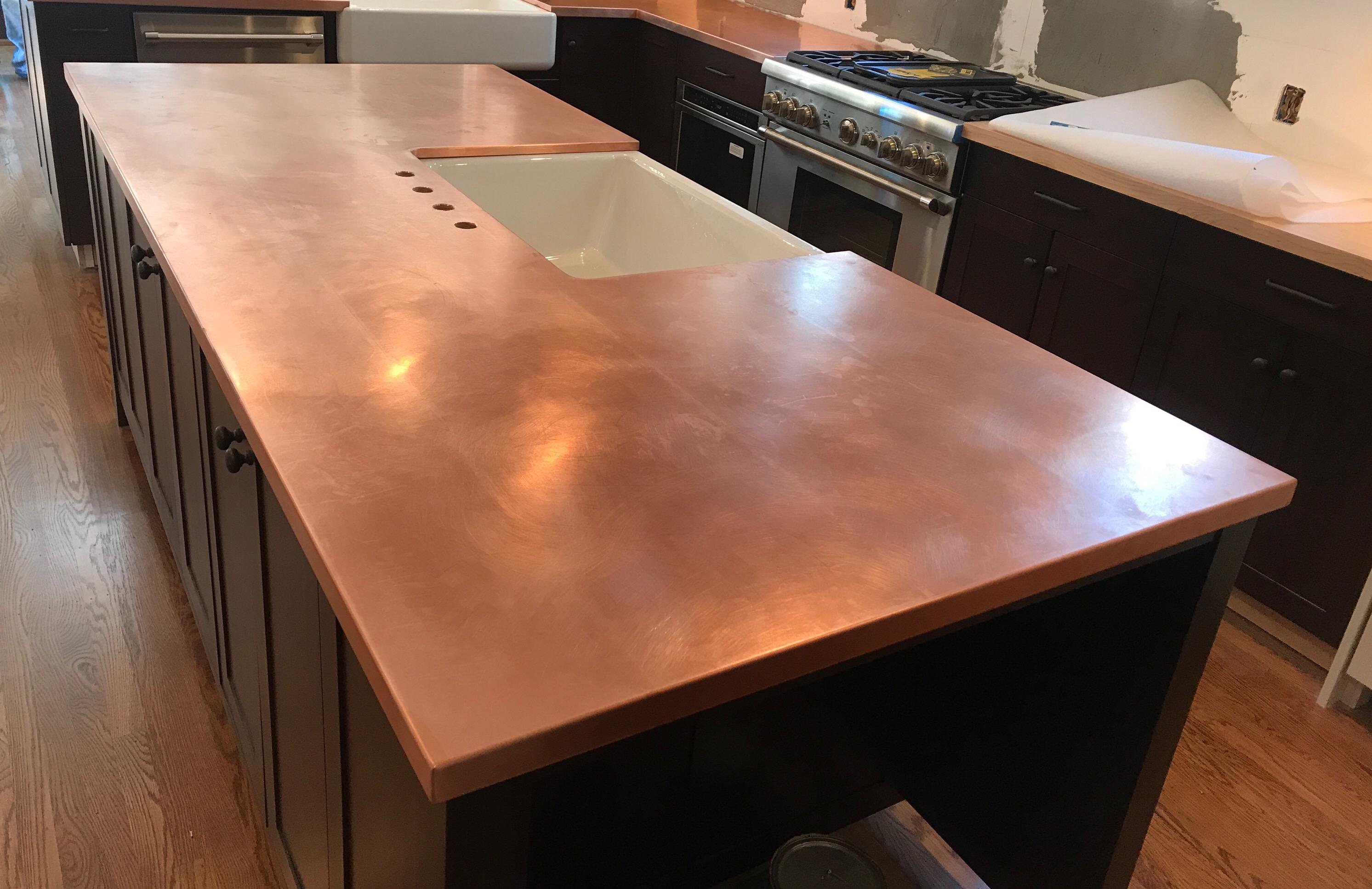 Berlin copper island countertop
