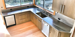 Hand Honed Stainless With Integral Sinks