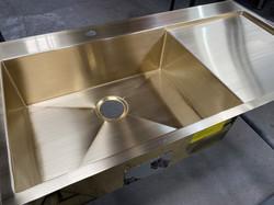 Brass Sink With Integral Drainboard