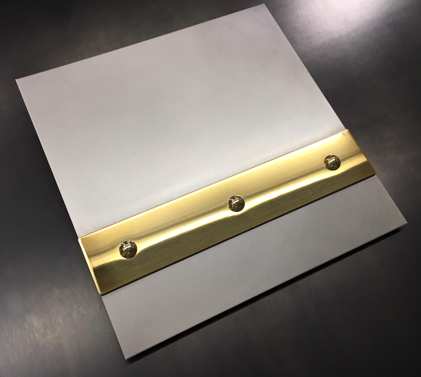 Hand Honed Stainless Brass Mirror Banding