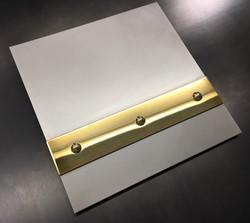 Hand Honed Stainless Brass Mirror Banding