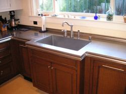 NEW OG EDGE DETAIL STAINLESS COUNTERTOP WITH HAND HONED FINISH