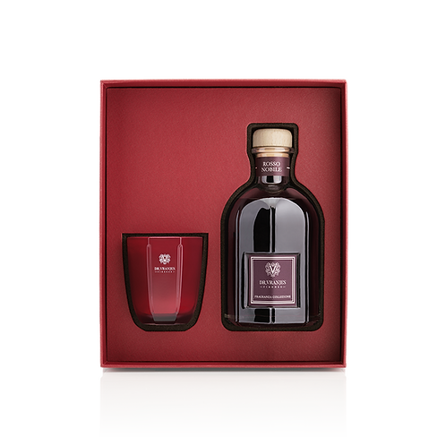 DR VRANJES Gift Box Rosso Nobile Candela 80 gr + Diffusore 100 ml con bastoncini