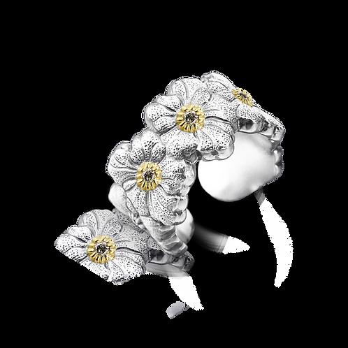 """BUCCELLATI Eternelle Gardenia """"Blossoms"""" con diamanti"""