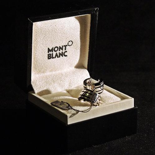 Mont Blanc Orecchini Argento Onice
