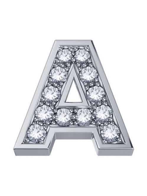 ELEMENTS Lettera Oro Bianco 18kt e Diamanti