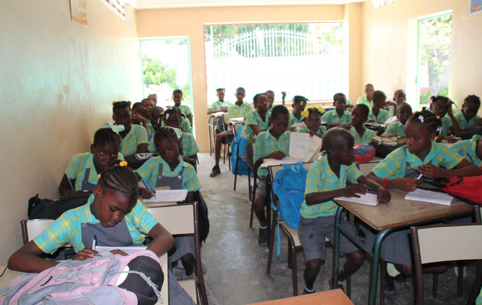 Salle de classe à Port-au-Prince