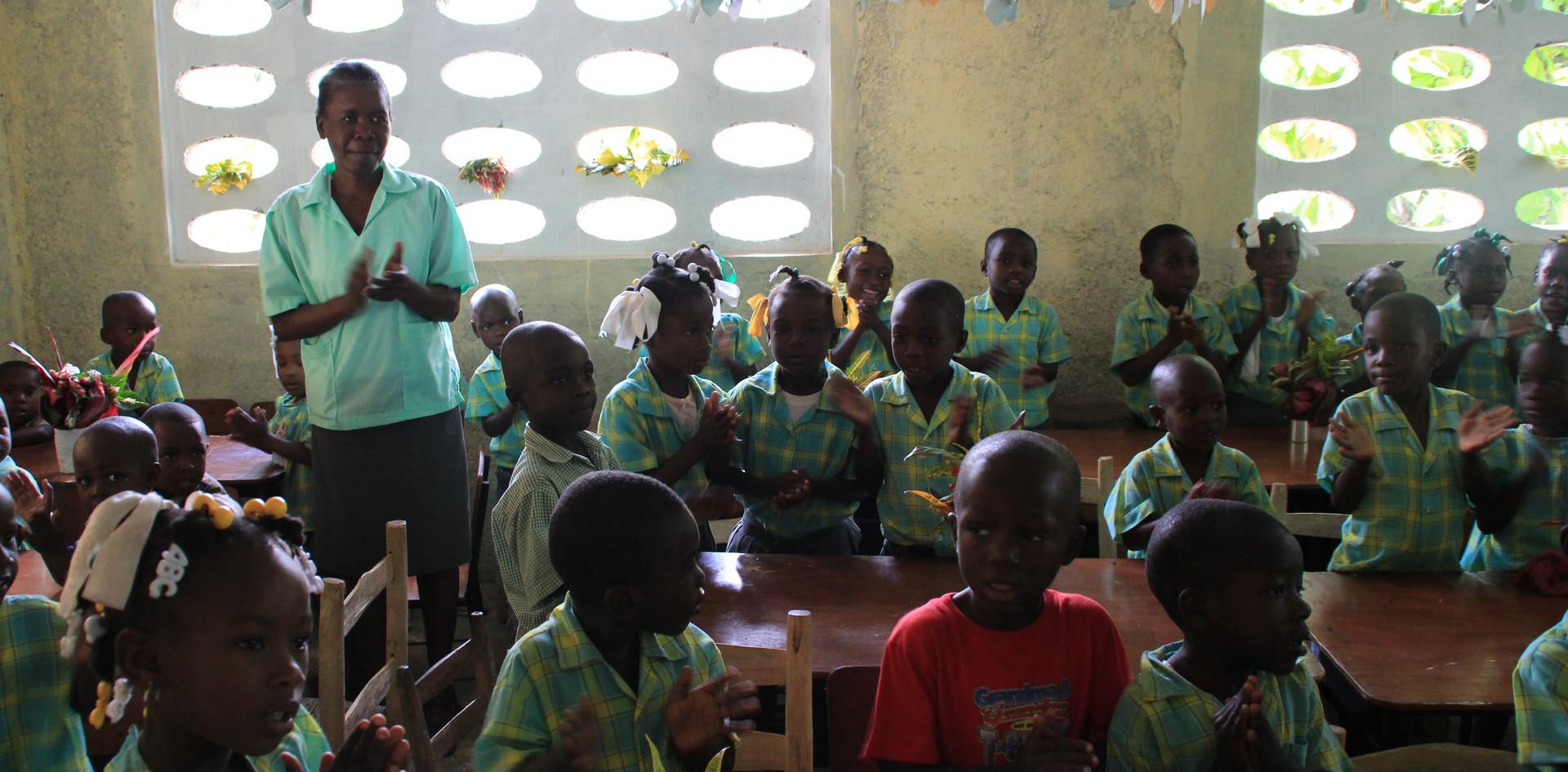 Salle de classe à Castaches